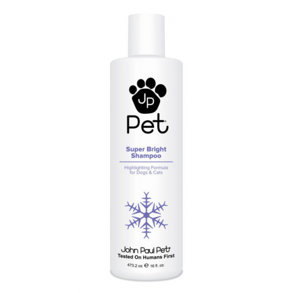 John Paul Pet Süper Bright Beyaz Köpekler için Şampuan 473ml John Paul Pet Süper Bright Beyaz Köpekler için Şampuan 473ml