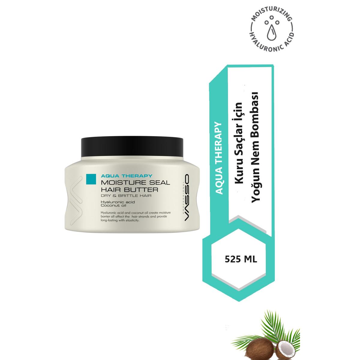 VASSO WOMEN Nem Yükleme Maskesi - Aqua Therapy Moisture Seal Hait Butter 525 ml