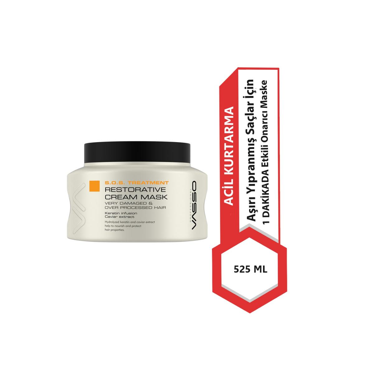 VASSO WOMEN Vasso Yıpranmış Saçlar Için Acil Kurtarma Maske - S.o.s Treatment Restorative Cream Mask
