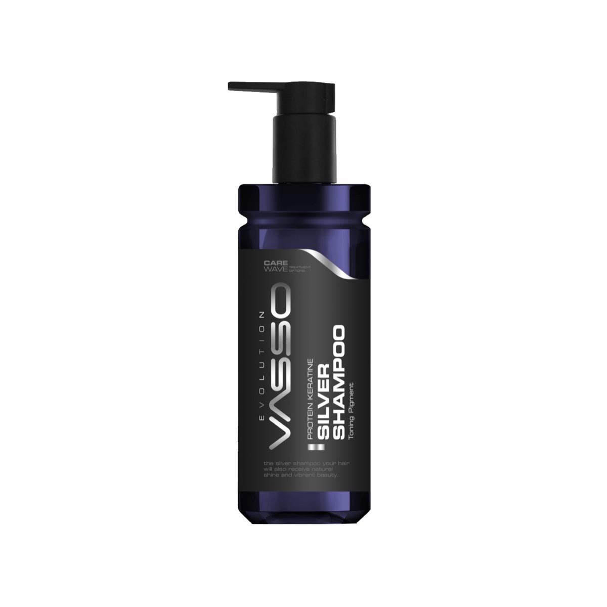 VASSO MAN Gri Ve Beyaz Saçlar Için Şampuan - Vasso Men Protein Keratin Silver Shampoo 370 Ml