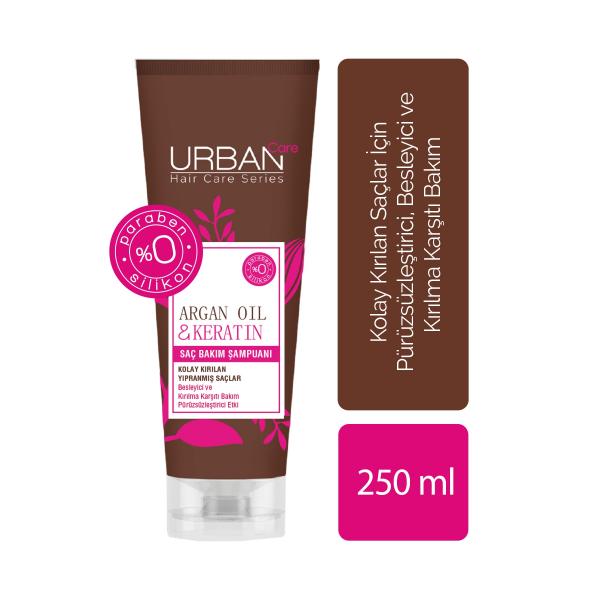 Urban Care Argan Oil & Keratin Saç Bakım Şampuanı 250 ml  Urban Care Argan Oil & Keratin Saç Bakım Şampuanı 250 ml