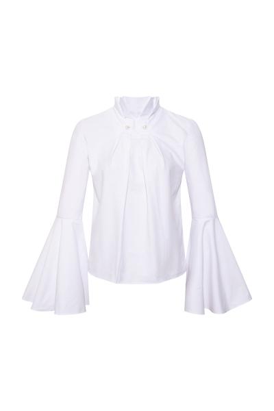 Inci Broşlu Beyaz Gömlek Inci Broşlu Beyaz Gömlek