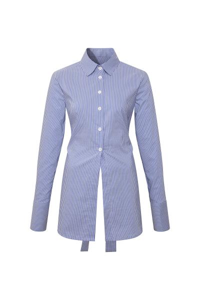 Backless Shirt -Blue- White Backless Shirt -Blue- White