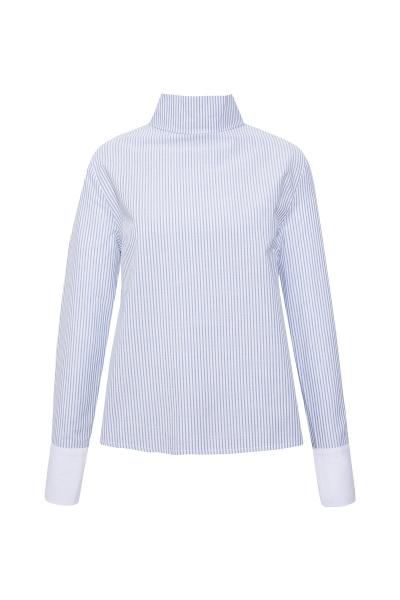 Sirti Dugmeli Mavi Beyaz Ince Cizgili Gömlek Sirti Dugmeli Mavi Beyaz Ince Cizgili Gömlek