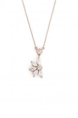 Hola Design Hana Yarım Çiçek Kolye