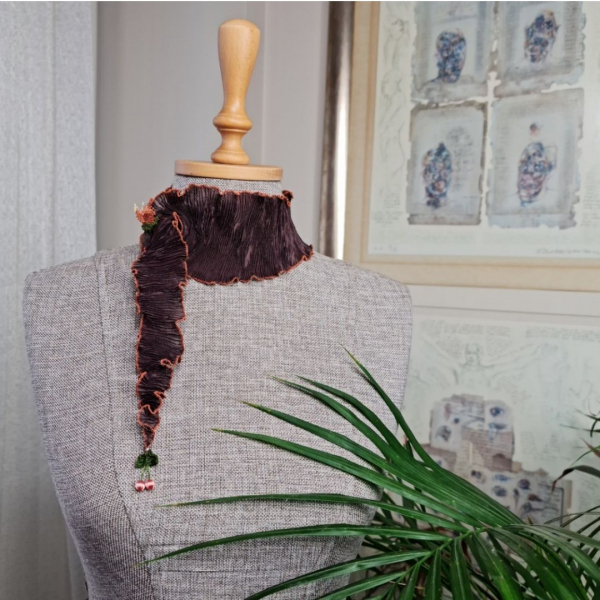 Buket Fular-Kahverengi/Turuncu Buket Fular-Kahverengi/Turuncu