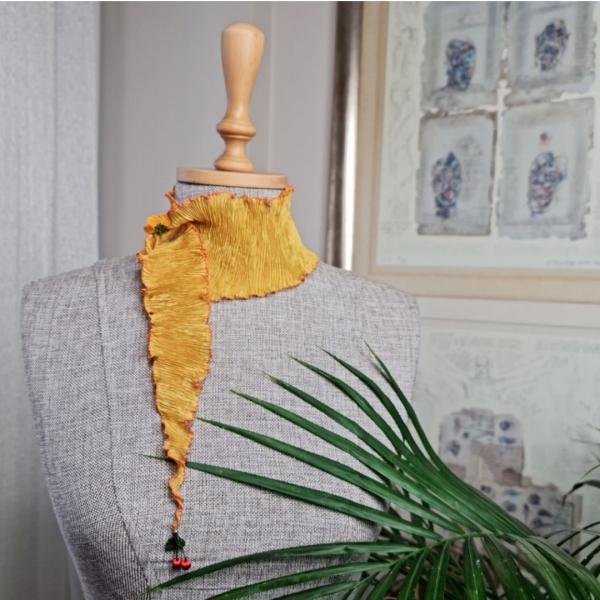 Buket Fular - Sarı/Turuncu
