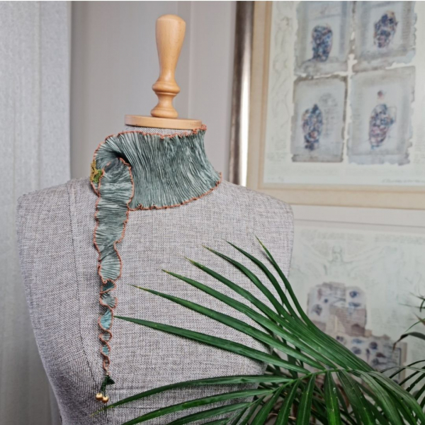 Buket Fular - Yeşil/Kahverengi Buket Fular - Yeşil/Kahverengi