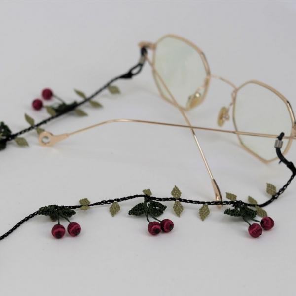 Gözlük ve Maske İpi ( Kiraz ) - Bordo