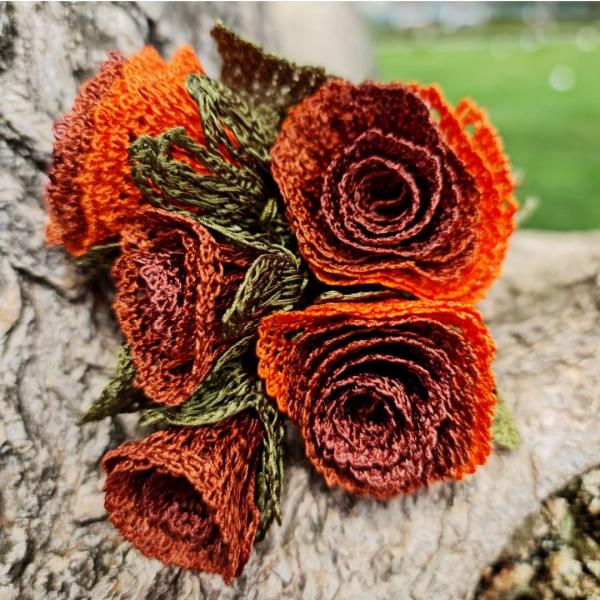 Düğün Çiçeği Broş - Turuncu Düğün Çiçeği Broş - Turuncu