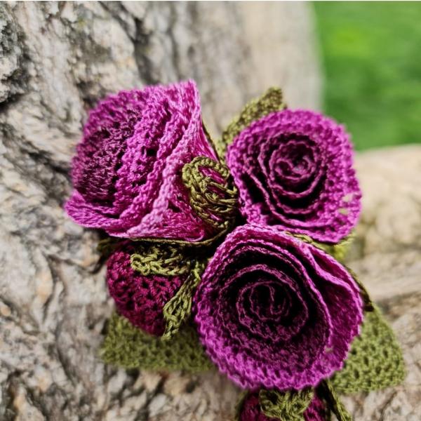 Düğün Çiçeği Broş - Mor Düğün Çiçeği Broş - Mor