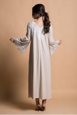 BOCAN Magnolia(Ecru)Beige Cotton Dress