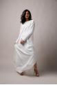 Women's Embroidered Dress-Spring(Ecru)Ecru