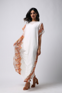 Women's Dress-Autumn-Chiffon-Loose Cut
