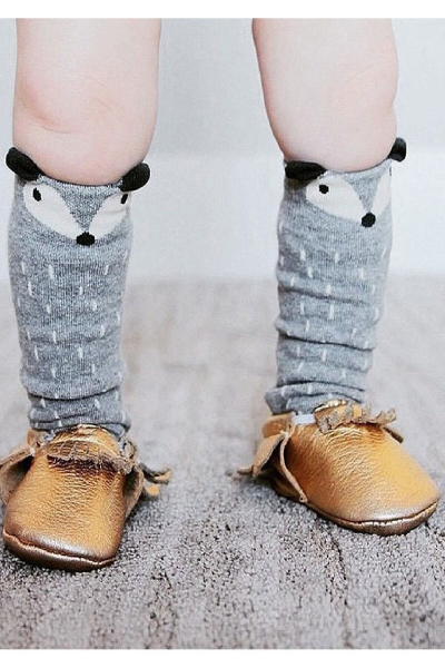 Gri Tilki Dizaltı Çorap Gri Tilki Dizaltı Çorap