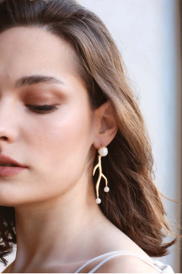 Linya Jewellery Linya-Mercan Küpe