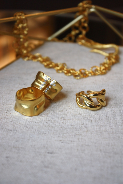 Bella & Zincir Yüzük Gold