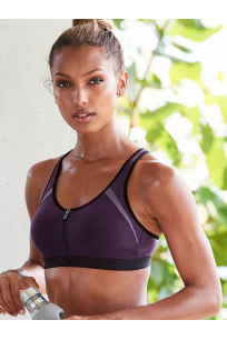 NEW! Knockout by Victoria Sport Front-Close Sport Bra Purple
