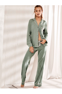 NEW! The Sleepover Knit Pajama Green