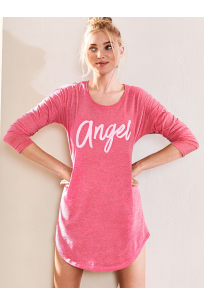The Angel Long Sleeve Sleep Tee Pink