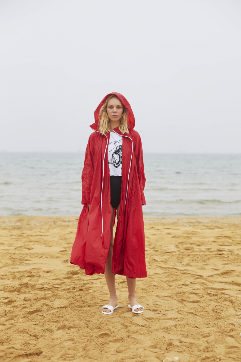 RED NOISE RAINCOAT