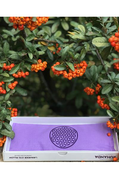 Yaşam Çiçeği Sembollü Lavantalı Göz Yastığı