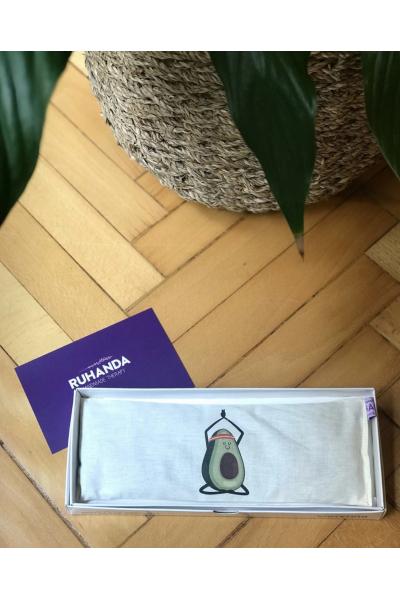Avokado Desenli Lavantalı Göz Yastığı - kılıflı Avokado Desenli Lavantalı Göz Yastığı - kılıflı