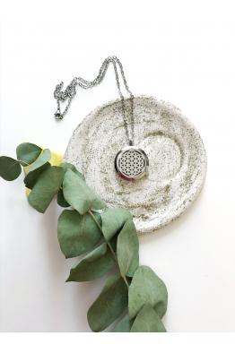 Ruhanda Yaşam Çiçeği Kolye Silver