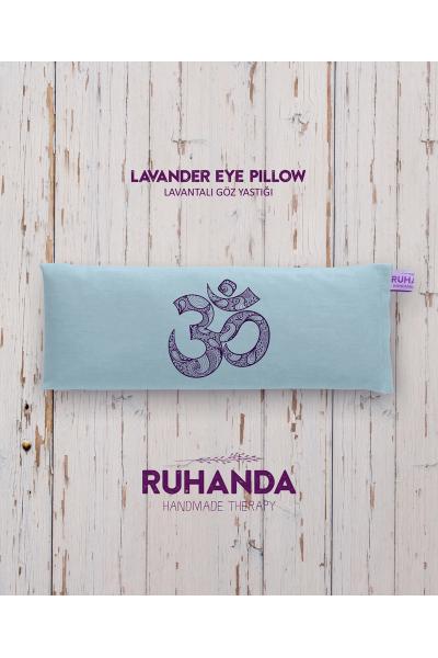 Aum Lavantalı Mavi Göz Yastığı - kılıflı Aum Lavantalı Mavi Göz Yastığı - kılıflı