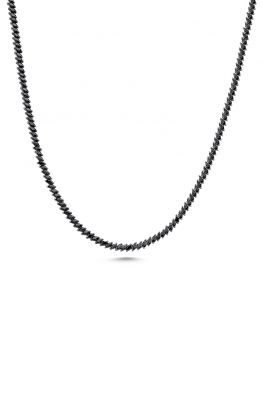 Misadel Bijoux Raika Markiz Taşlı Siyah Uzun Su Yolu Kolye (80 CM)