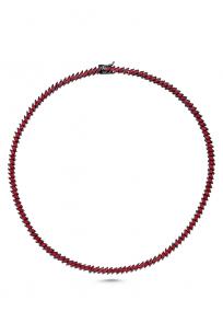 Raika Markiz Taşlı Kırmızı Su Yolu Kolye (45 CM)