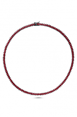 Misadel Bijoux Raika Markiz Taşlı Kırmızı Su Yolu Kolye (45 CM)