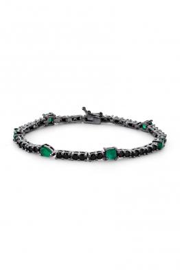 Misadel Bijoux Maurice Yeşil Taşlı Siyah Su Yolu Bileklik