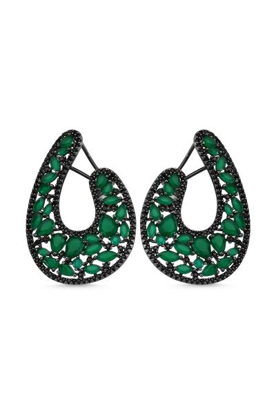 Misadel Bijoux Sienna Yeşil Siyah Küpe