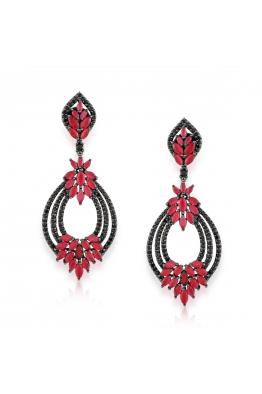 Misadel Bijoux Victoria Kırmızı Siyah Küpe