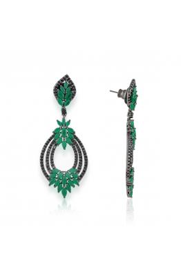 Misadel Bijoux Victoria Yeşil Siyah Küpe