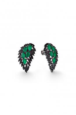 Misadel Bijoux Wings Yeşil Siyah Kanat Küpe