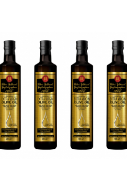 Hilmi Yıldırım Zeytin § Zeytin yağı Natürel Sızma Zeytinyağı, Erken Hasat, Soğuk Sıkım, Yüksek Polifenollü 500 ml 4'lü Paket cam şişe (Y