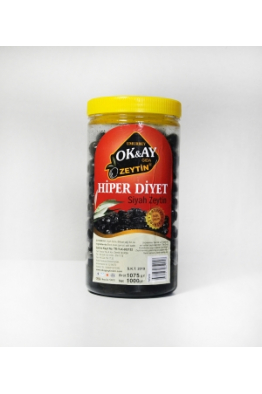 Okay Zeytin § Zeytin yağı 1 Kg Hiper Tuzsuz Siyah Zeytin Diyet