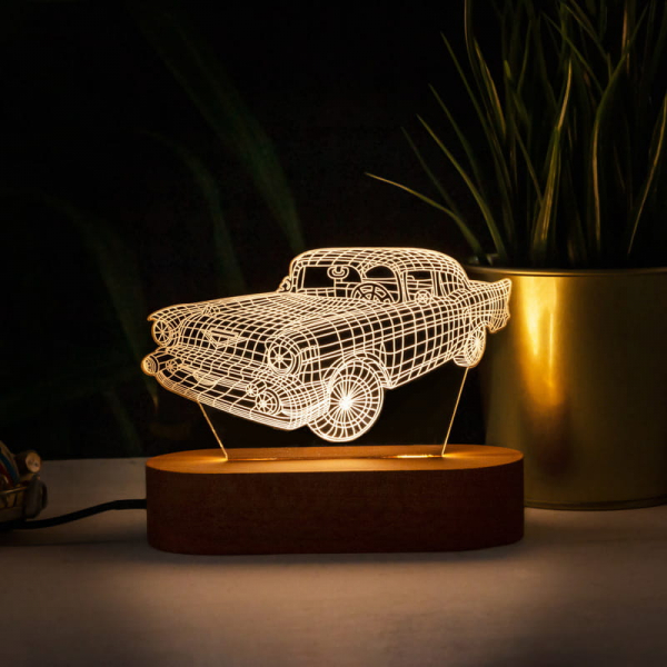 3D Klasik Car Led Lamba Erotscnigli