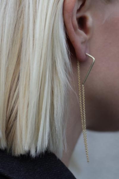 Gold Chain Stud Küpe