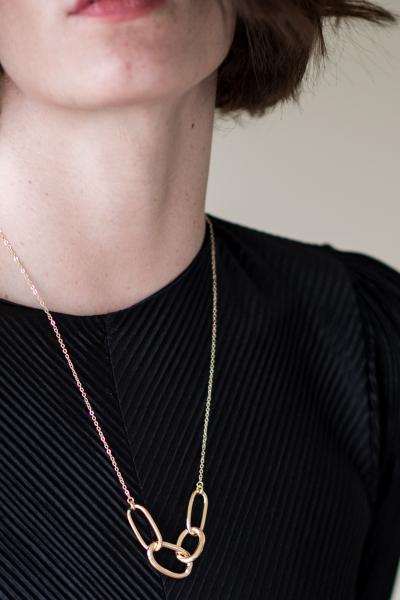 Chain Link Gold Kolye