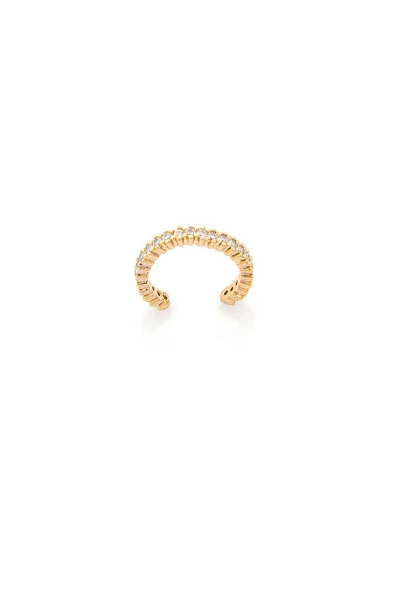 Dot Line Gold Earcuff
