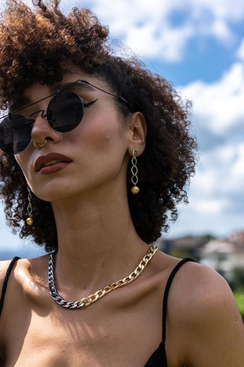 Contrast Chain Link Kolye
