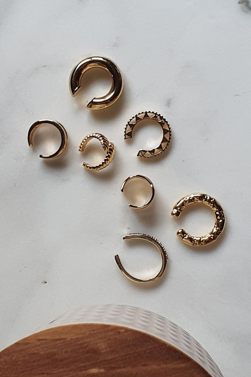 X Gold Earcuff