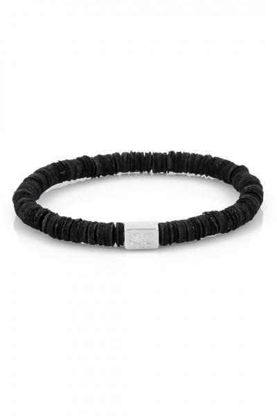 Leather Pieces Black Bileklik