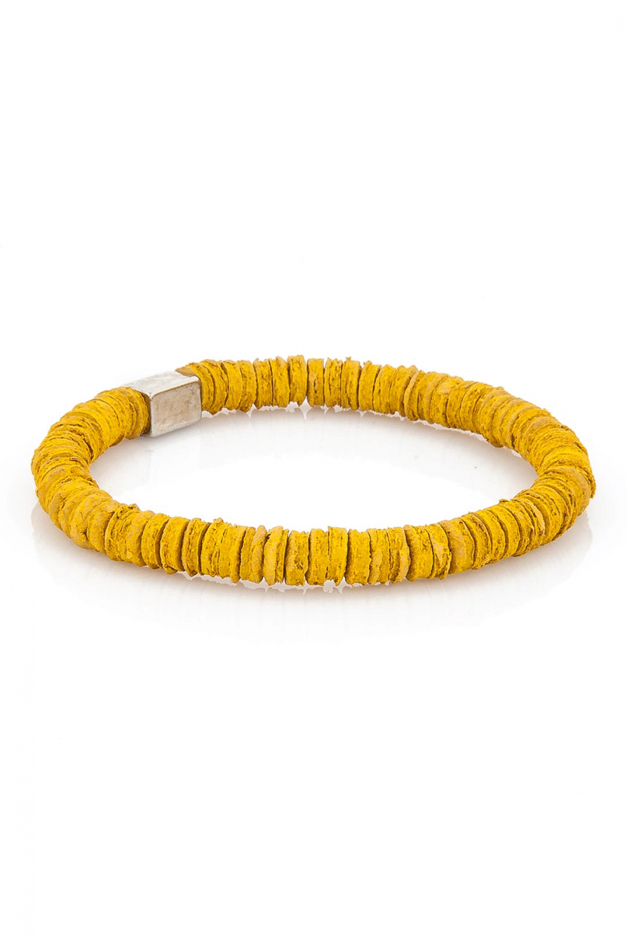 Leather Pieces Yellow Bileklik