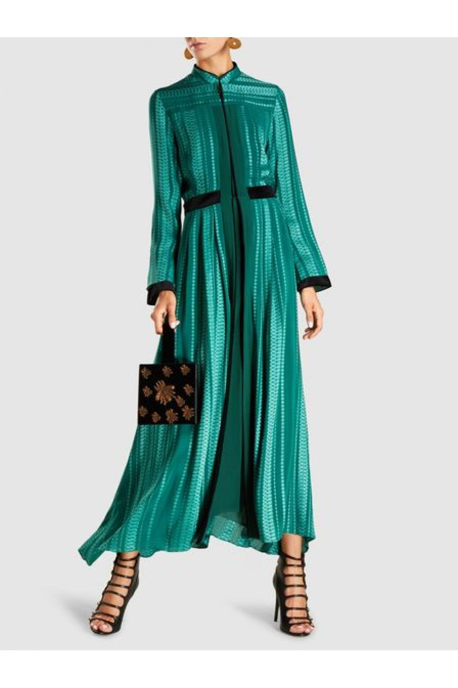 Atlantis Silk-Blend Jacquard Maxi Dress