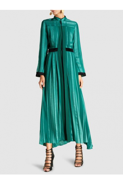 THE MODIST Atlantis Silk-Blend Jacquard Maxi Dress