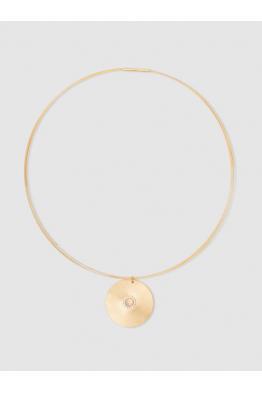 THE MODIST Sun Gold-Plated Opal And Sapphire Choker